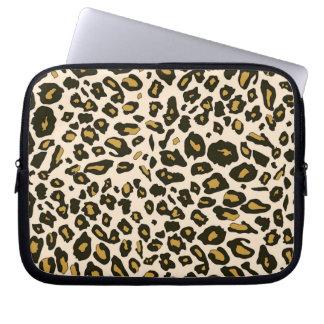 Leopard print pattern computer sleeve