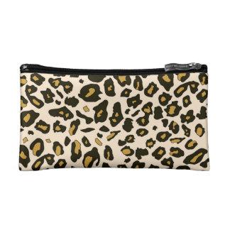 Leopard print pattern cosmetic bag