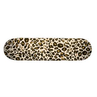 Leopard print pattern custom skate board