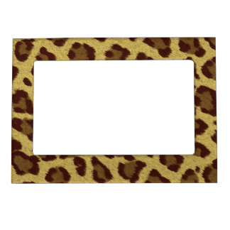 Leopard Print Pattern Magnetic Picture Frame