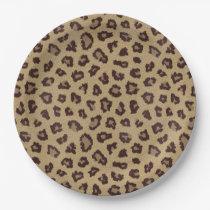 Leopard Print Pattern Paper Plate