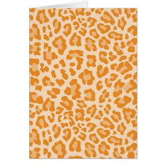 Leopard Print Pattern - Personalize Card