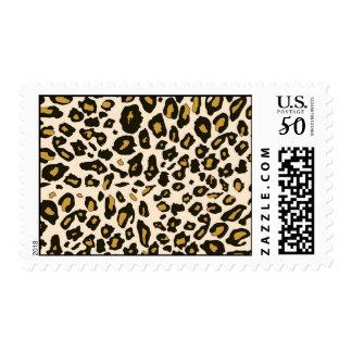 Leopard print pattern postage