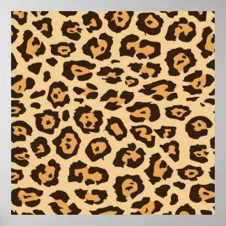 Leopard Print Pattern Square Poster