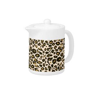 Leopard print pattern teapot