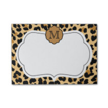 Leopard Print Personalized Monogram Notes