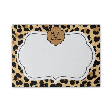 theburlapfrog Leopard Print Personalized Monogram Notes