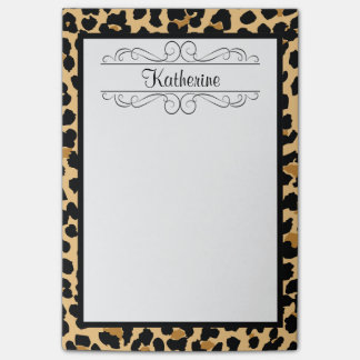 Leopard Print Personalized Monogram Post-It Notes