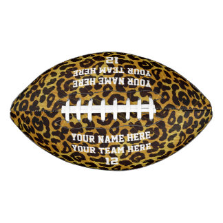 Leopard Print Personalized Name Team Number Sports Football