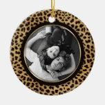 Leopard Print Photo Ornament Wedding Keepsake
