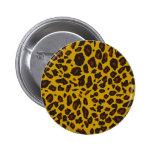 Leopard Print Pinback Button