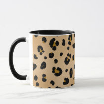 Leopard Print Pink Apple Teacher Mug