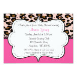 Leopard Print Pink Invitaiton Card