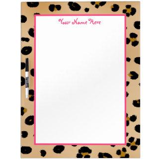 Leopard Print & Pink Large Dry Erase Board