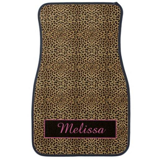 Leopard Print Pink Monogram Floor Mats Floor Mat Zazzle