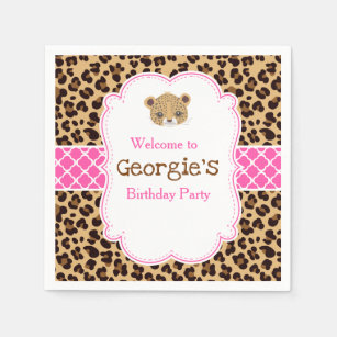 Leopard And Pink Party Decorations  from rlv.zcache.com