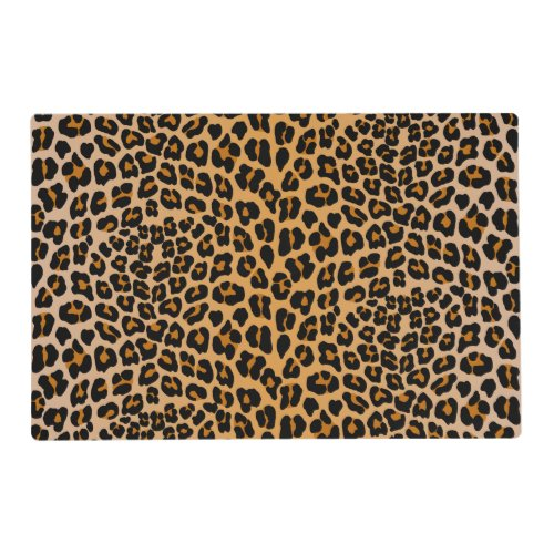 Leopard print placemat
