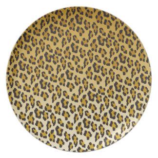 Leopard Print Dinner Plate