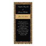 Leopard Print Post Wedding Invitation