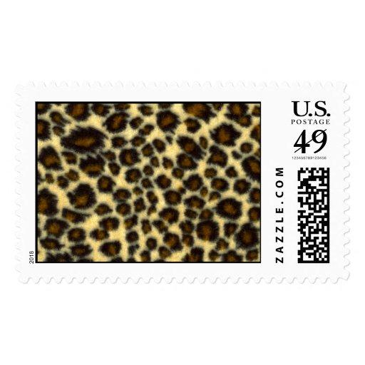 Leopard Print Postage Stamps