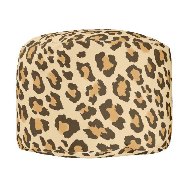 Leopard Print Pouf Zazzle