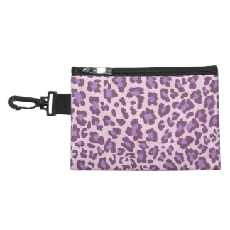 Leopard Print Purple and Lavender Accessory Bag