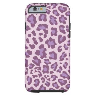 Leopard Print Purple and Lavender Tough iPhone 6 Case
