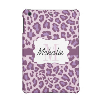 Leopard Print Purple and Lavender iPad Cover
