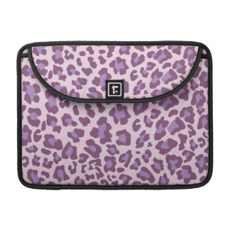 Leopard Print Purple and Lavender Sleeves For MacBook Pro