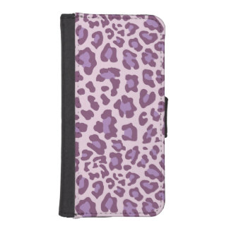 Leopard Print Purple and Lavender iPhone 5 Wallet Cases