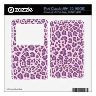 Leopard Print Purple and Lavender iPod Classic Skins