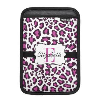 Leopard Print Purple Black White iPad Mini Sleeve