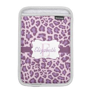 Leopard Print Purple Lavender iPad Mini Sleeve
