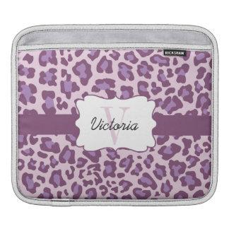 Leopard Print Purple Lavender iPad Sleeve
