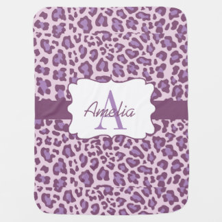 Leopard Print Purple Lavender Swaddle Blanket