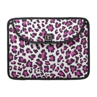 Leopard Print Purple MacBook Pro Sleeves
