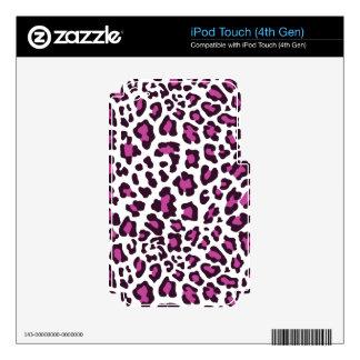 Leopard Print Purple iPod Touch 4G Skin