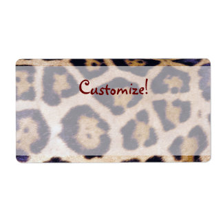 Leopard Print Real Fur Cat Pattern Label