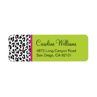 Leopard Print Return Address Label