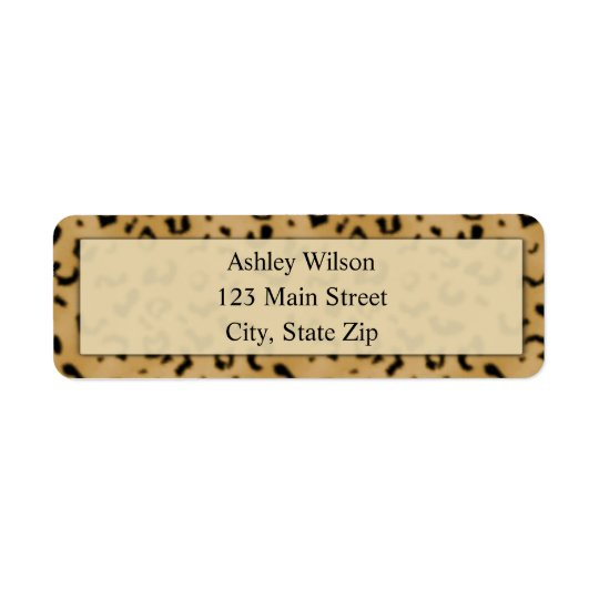 Leopard Print Return Address Labels