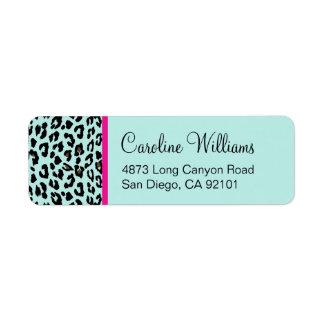 Leopard Print Return Address Labels