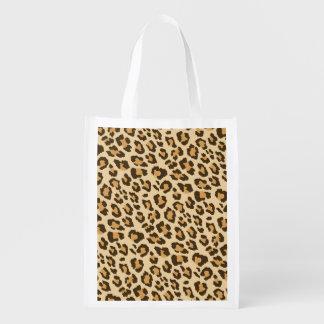 Leopard Print Reusable Bag Grocery Bags