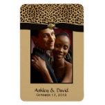 Leopard Print Ribbon Jewel Photo Flexible Magnet