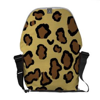 leopard print rickshaw bag