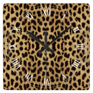 Leopard print Roman Numeral Clock