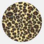 Leopard Print Round Stickers