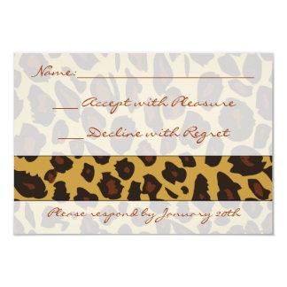 """Leopard Print RSVP 3.5"""" X 5"""" Invitation Card"""