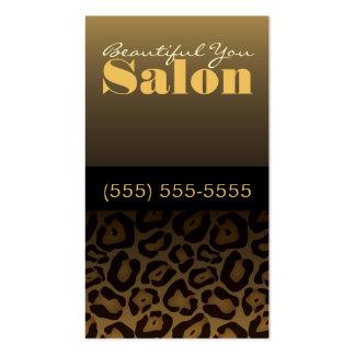 Leopard Print Salon Business Card