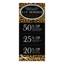 Leopard Print Salon Coupons Rack Card