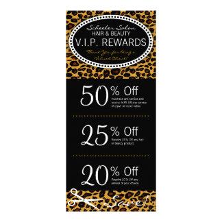 Leopard Print Salon Coupons Rack Card